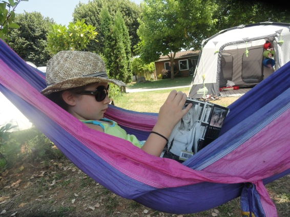 There's always time for reading in the hammock