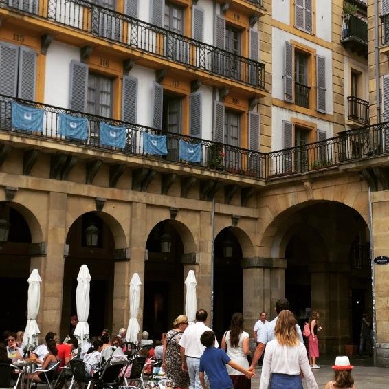 San Sebastian's bullring square