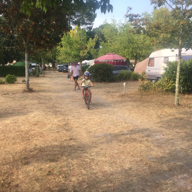 Joys of a campsite #57 - bumbling about on a bicycle