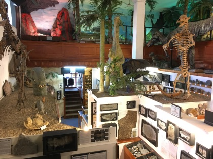 .. and the model dinosaurs on the top floor.