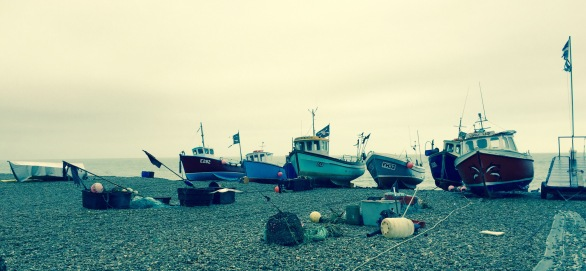 These boats reminded me of childhood mackerel fishing trips