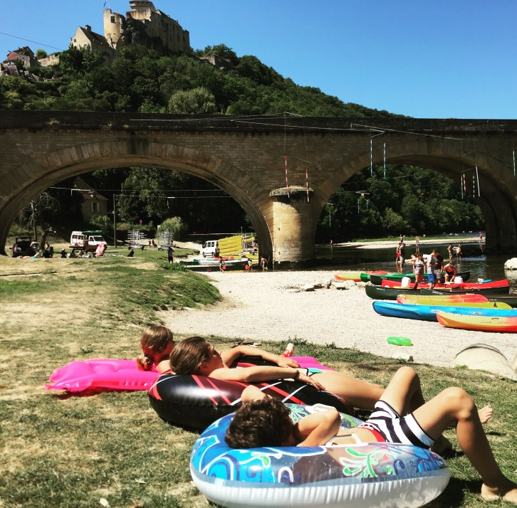 Sunbathing in Castelnaud