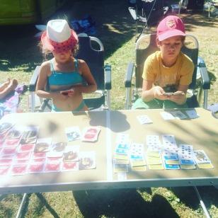 Camp site card sharps