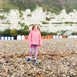 Pebbles, beach huts, biting cold winds = v British beach day in winter!