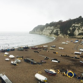 Beer beach from the cliff path