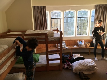 A family dorm with a choice of bunks, ensuite and a view