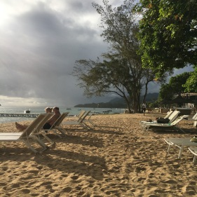 A cloudy late afternoon on the beach