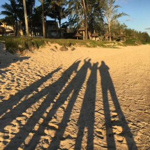 Family shadow selfie