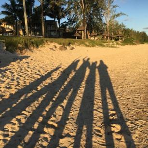 Family shadow selfie