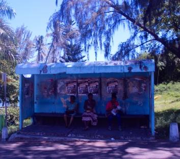 Mauritian bus stop